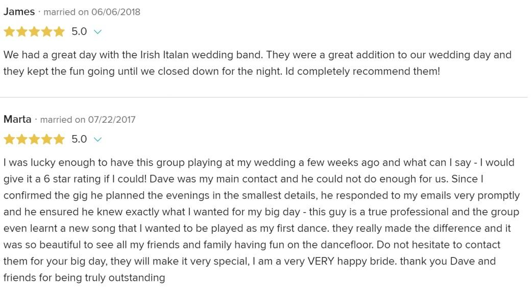 James and Marta reviews