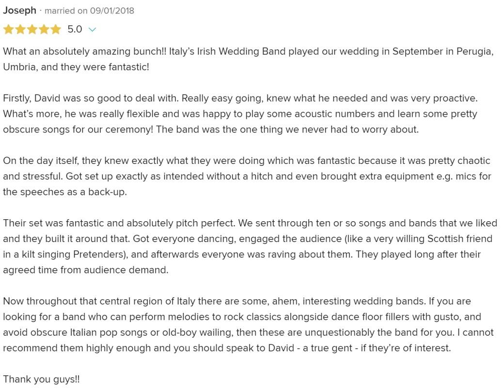 joe and charu's review